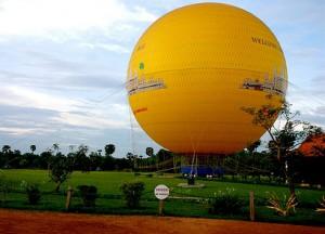 Balloon ride at Angkor Wat